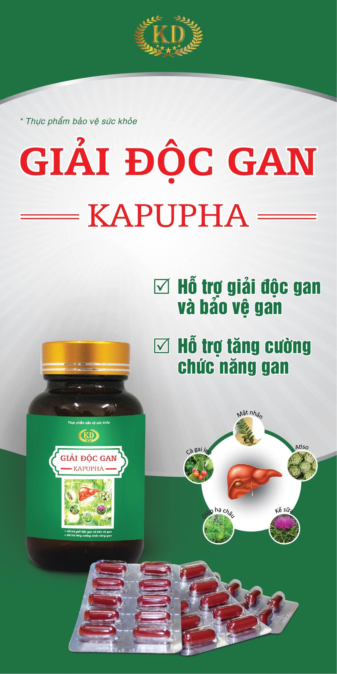 Giải độc gan KAPUPHA ( 3 vĩ x 10 viên)