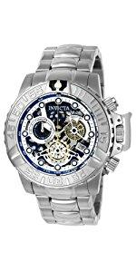Invicta Women s 15147 Angel Stainless Steel and White Leather Watch 9