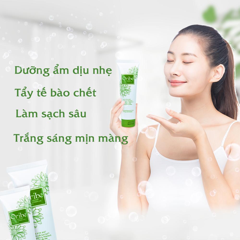 Bộ Sữa Rửa Mặt Oribe 100g và Nước Hoa Hồng 150ml Dưỡng Ẩm Trắng Da Oribe