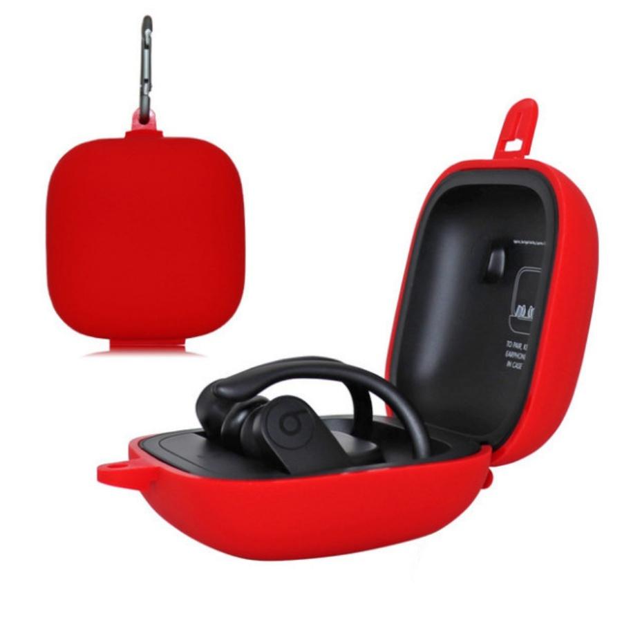 Vỏ bao silicon bảo vệ tai nghe Apple Powerbeats Pro chống sốc, chống bám bẩn có kèm móc gắn (không gồm tai nghe)