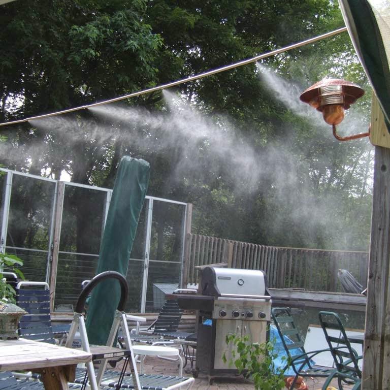 Combo hệ thống phun sương làm mát quán ăn, cafe gồm đủ phụ kiện