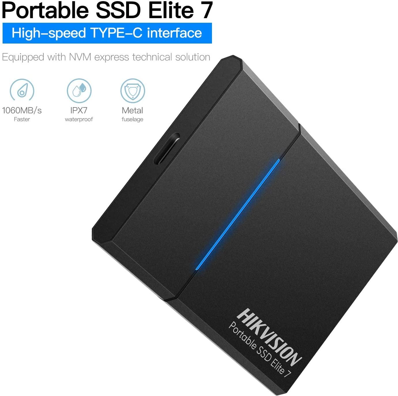 Ổ cứng di động SSD HIKVISION Elite 7 Touch 1TB - Hàng Chính Hãng