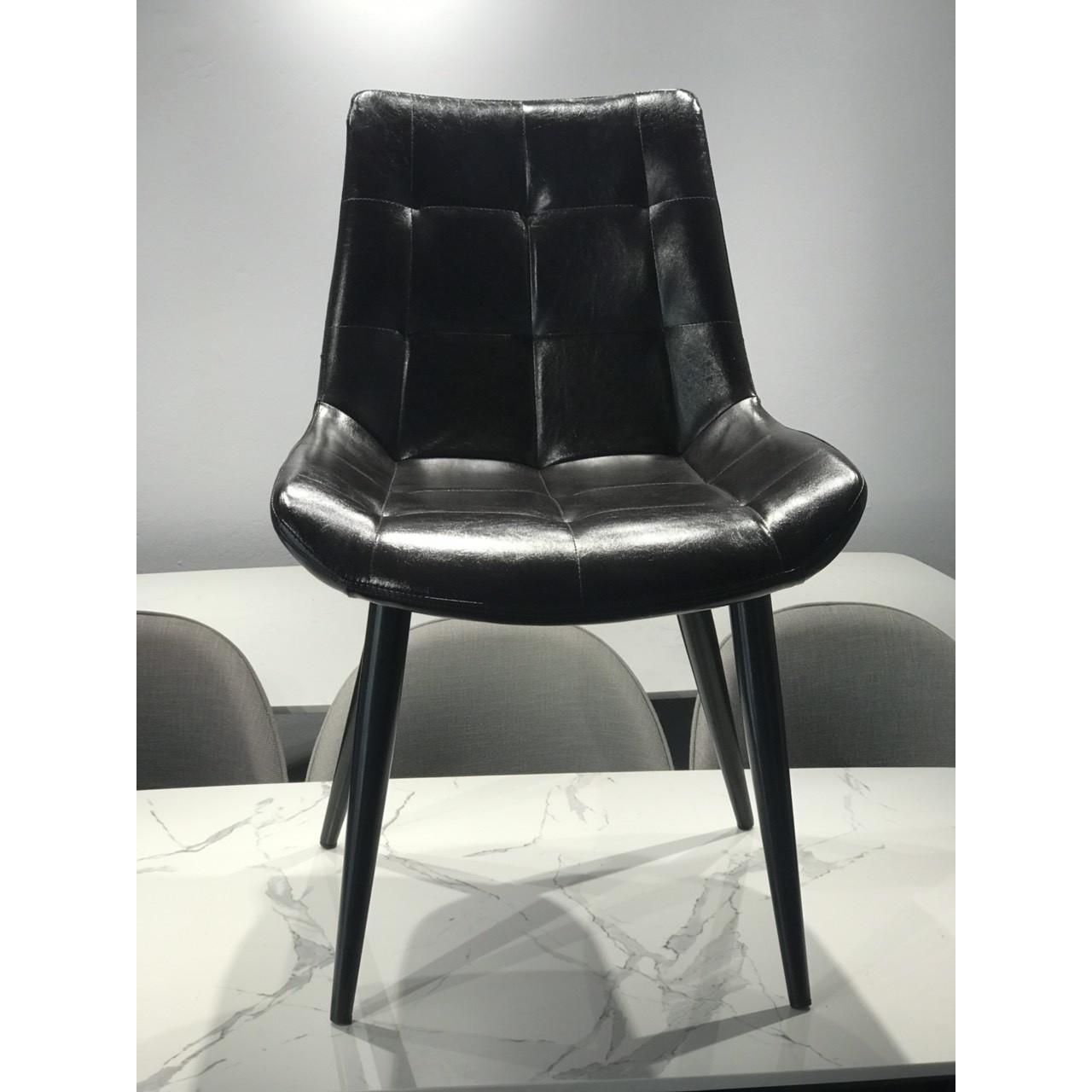 Ghế ăn mặt da - Ghế ăn 3B6809 -  - chân sắt sơn tĩnh điện