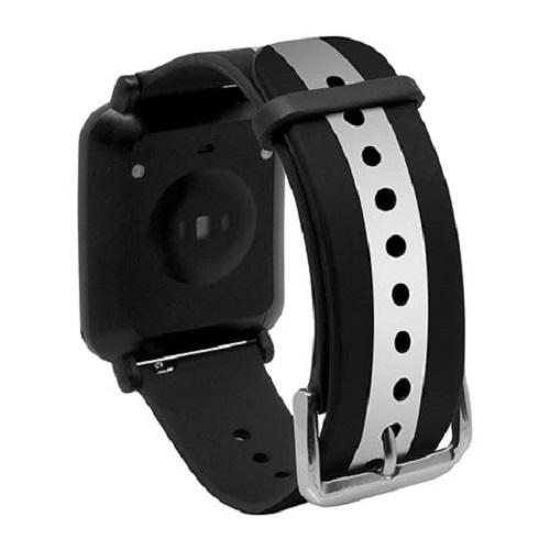 Dây Thay thế cho đồng hồ thông minh Q-Watch I-gotU Q-90, Q82 - màu Đen Trắng - Hàng chính hãng