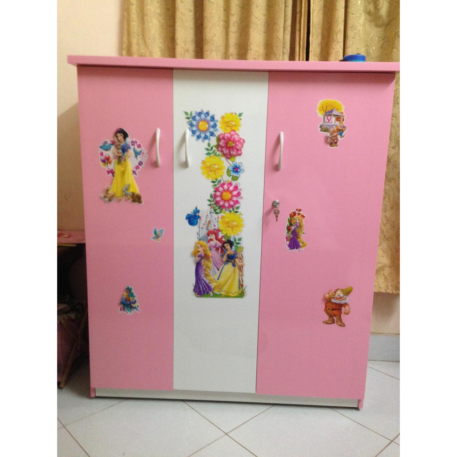 Tủ Nhựa Đài Loan Trẻ Em 3 Cánh 3 Tầng