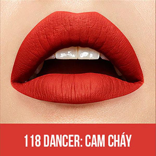 Son Kem Lì Maybelline Super Stay Matte Ink 5ml - Màu 118 Dancer