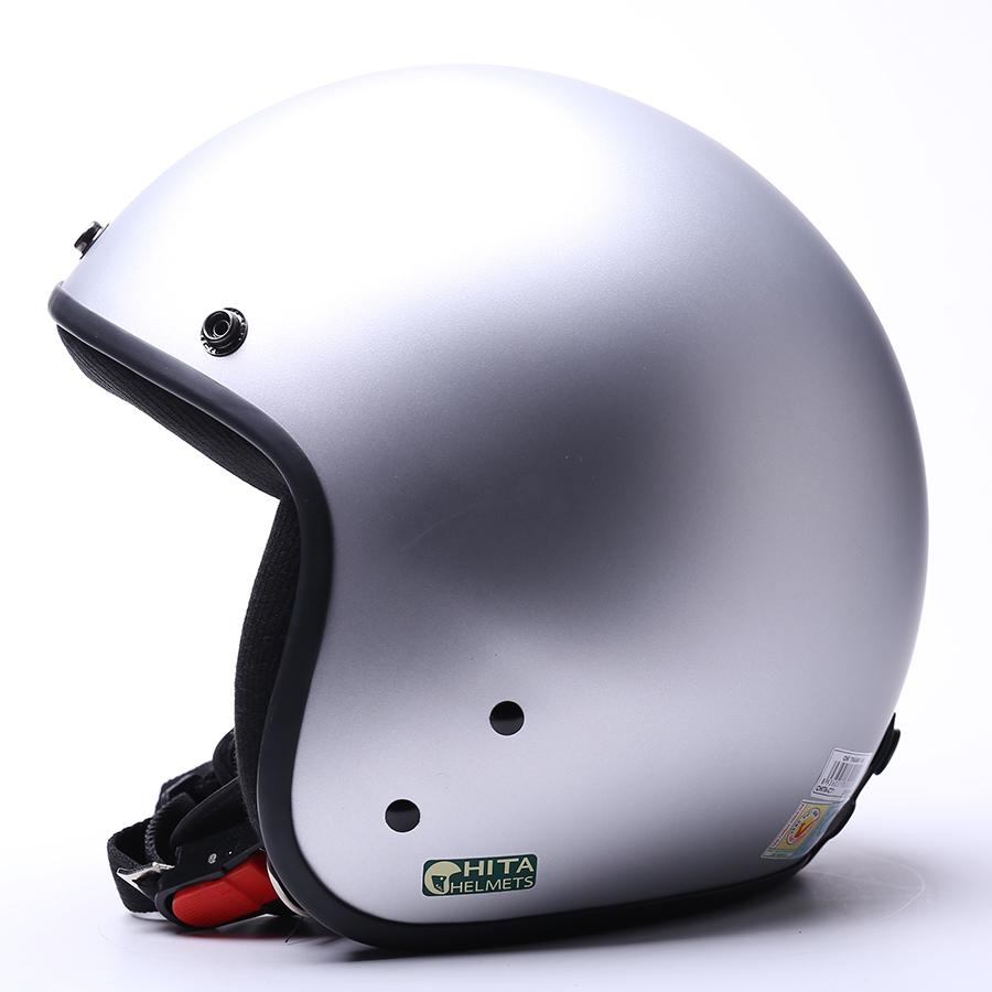 Mũ Bảo Hiểm 3/4 Chita - Bạc Sơn Mờ (Size M)