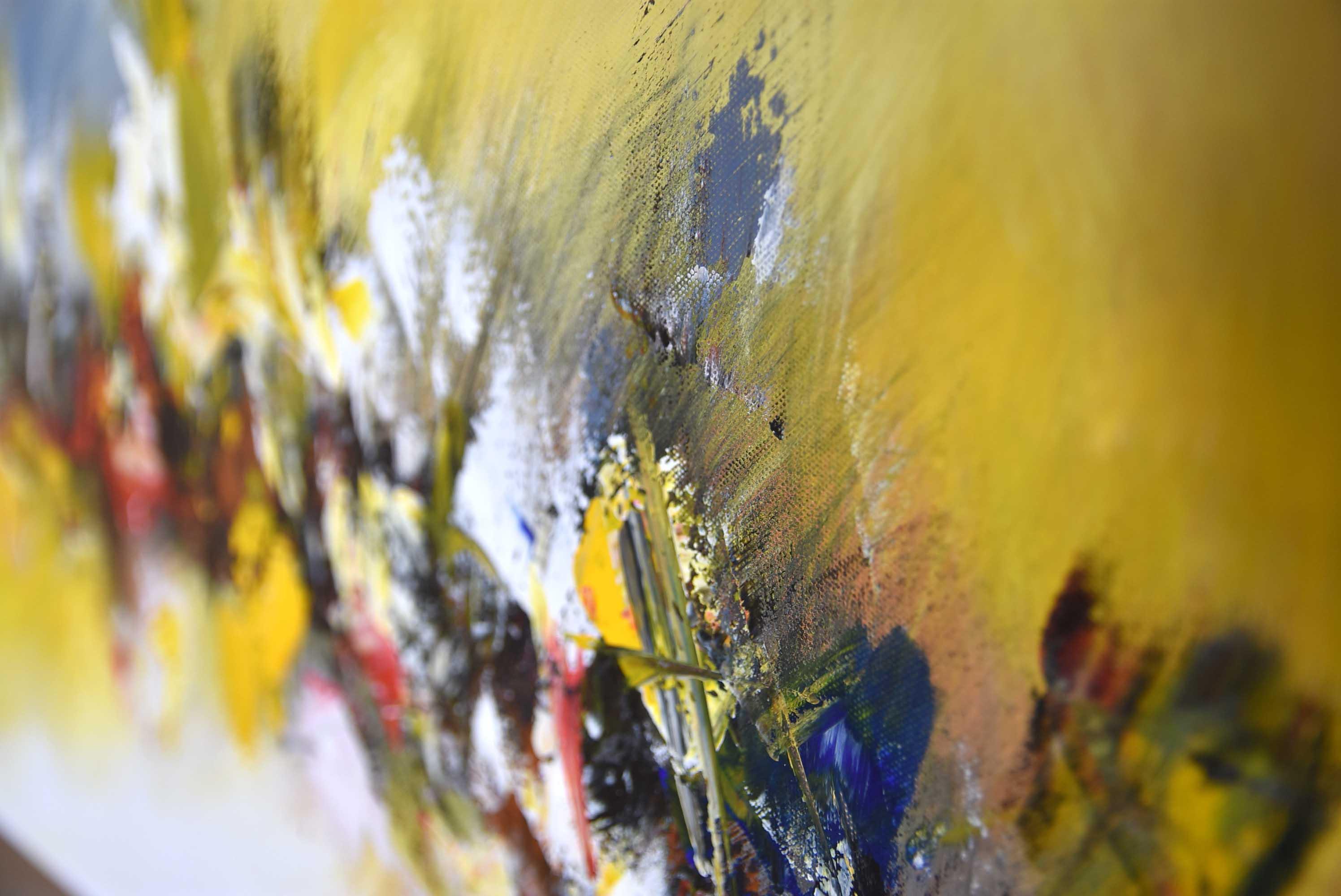 Tranh sơn dầu trừu tượng 02 40x80