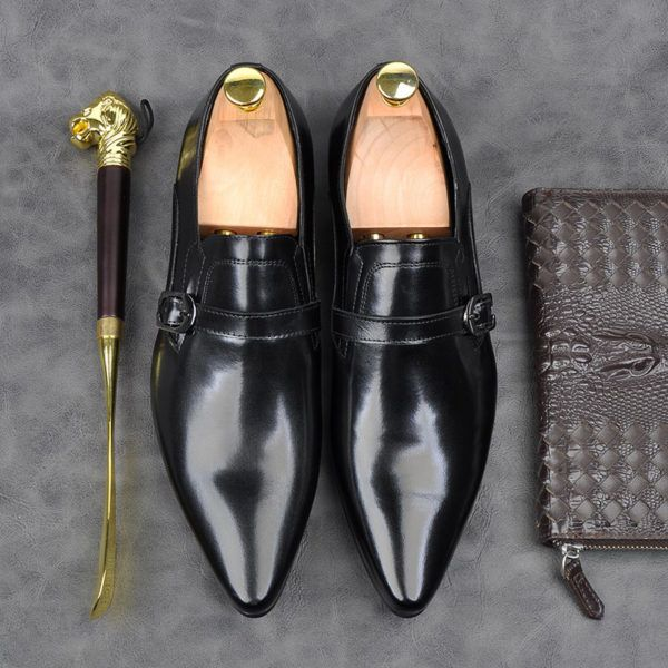 Giày công sở nam quai buộc single monk strap M303