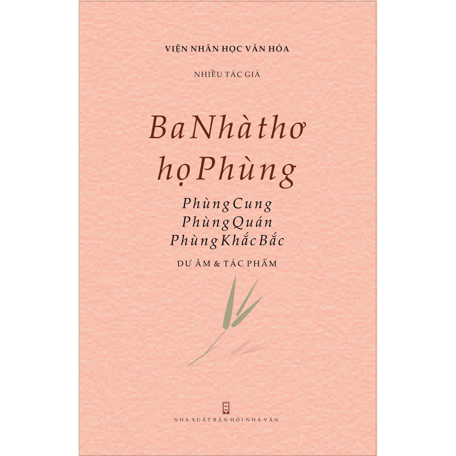 Ba Nhà thơ họ Phùng: Phùng Cung, Phùng Quán, Phùng Khắc Bắc