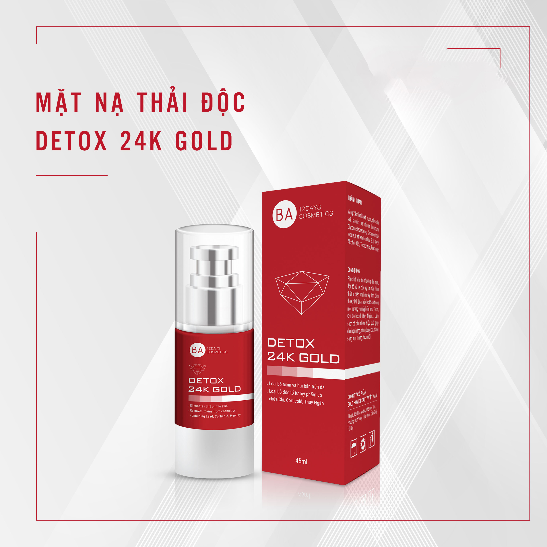 Thải Độc Da Detox 24k Gold BA12Days Cosmetics (45ml)