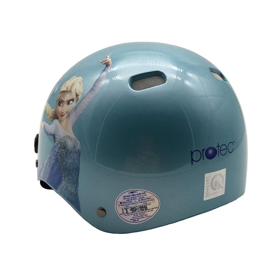 Mũ bảo hiểm trẻ em 1/2 đầu Protec Kitty Họa tiết công chúa Elsa size M