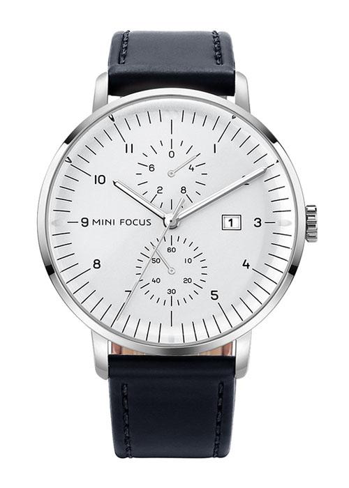 Đồng hồ nam công sở kiểu dáng thời trang Mini Focus, chống nước, có video giới thiệu | Hộp Fullbox | Hàng nhập  khẩu