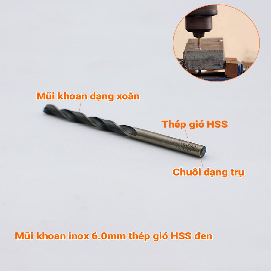 Bộ 13 mũi khoan inox 1.5-6.5mm