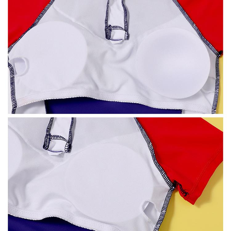 Đồ bơi bé gái lớn size đại, dáng váy dài tay quần sooc đùi rời, áo có sẵn đệm ngực an toàn kín đáo, đủ size đến 60kg   BT36