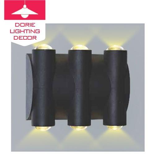 Đèn tường, đèn treo tường OP-H38 Đèn led gắn tường sáng 2 đầu, đèn hắt tường 6 tia