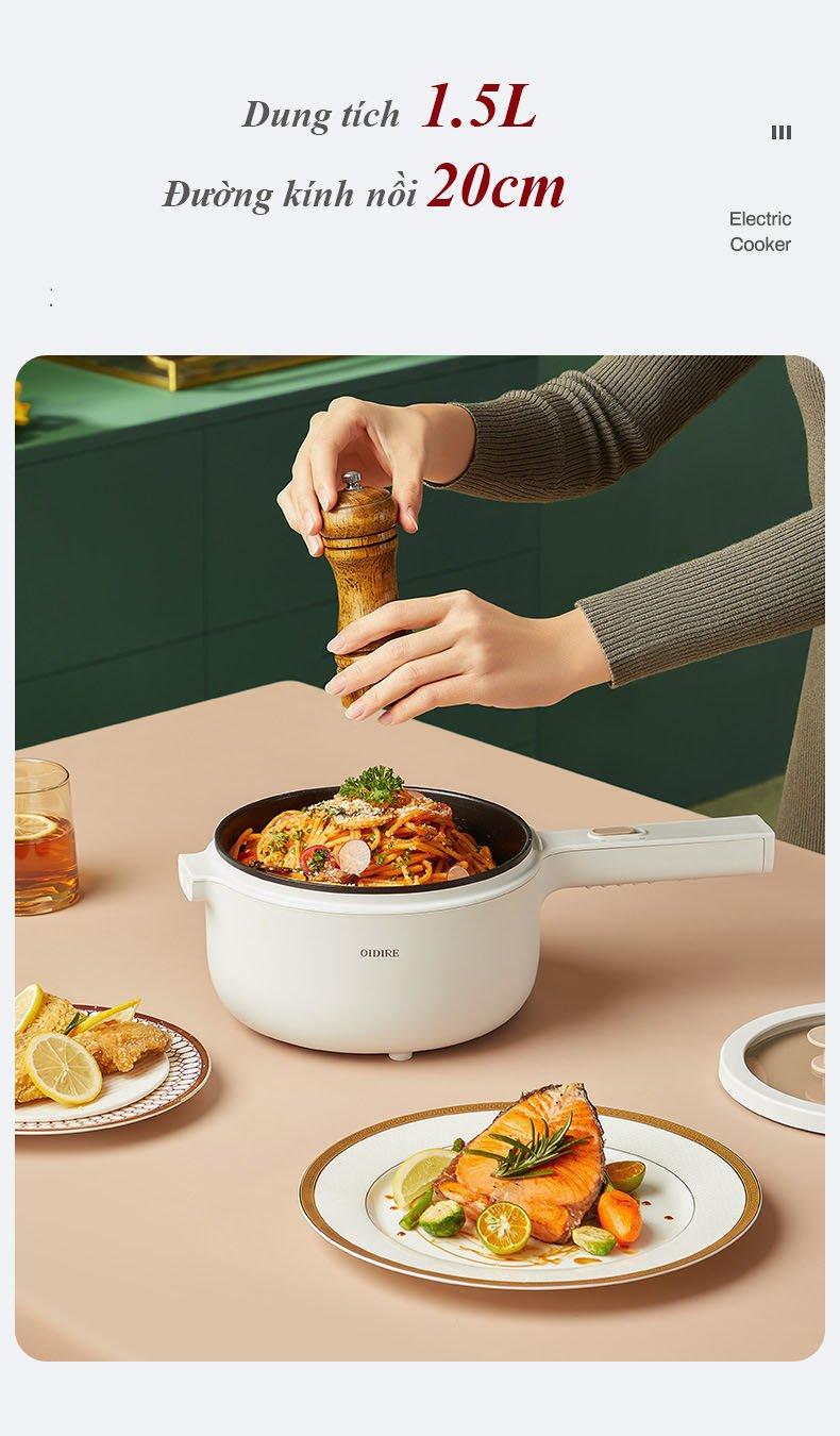 Nồi điện chiên , xào, nấu , nồi lẩu mini  đa  năng  DM3101