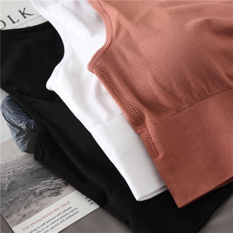 Áo 2 dây bra tập gym bản to 3 màu co dãn mềm mịn