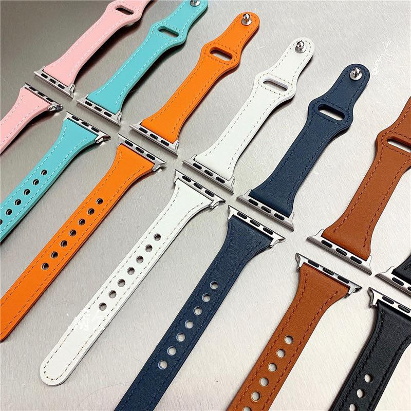 Dây Da bản nhỏ thời trang siêu đẹp cho applewatch 6/5/4/3/2 cho nữ