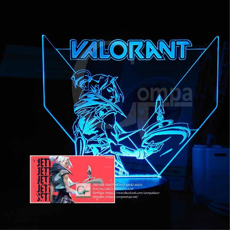 Đèn Ngủ Valorant Jett Ah GVLR0102 16 màu tùy chỉnh quà tặng đẹp, quà tặng độc đáo