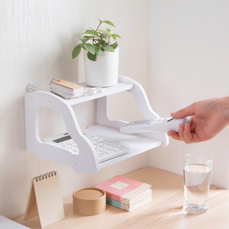 Kệ wifi treo tường nhỏ gọn kiểu mới (Trắng) ( 1 cái)