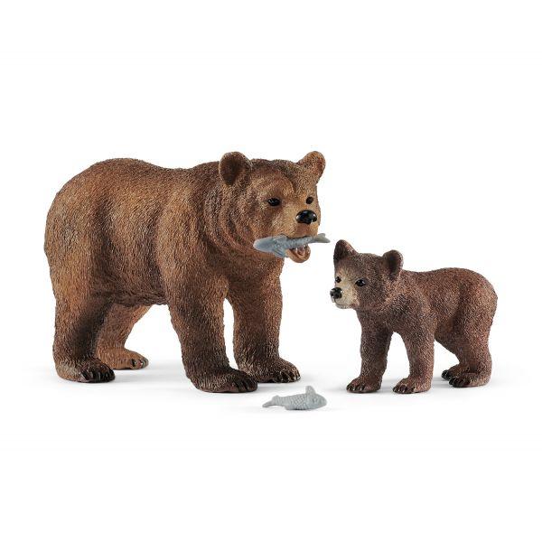 Mẹ con gấu xám SCHLEICH 42473