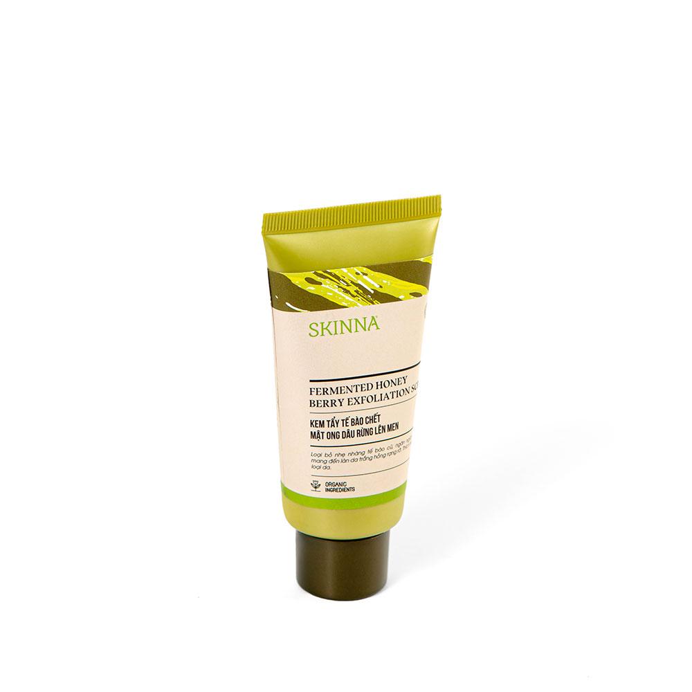 Kem Tẩy Tế Bào Chết Mật Ong Dâu Rừng Lên Men SKINNA - Fermented Honey Berry Exfoliation Scrub 50 gr
