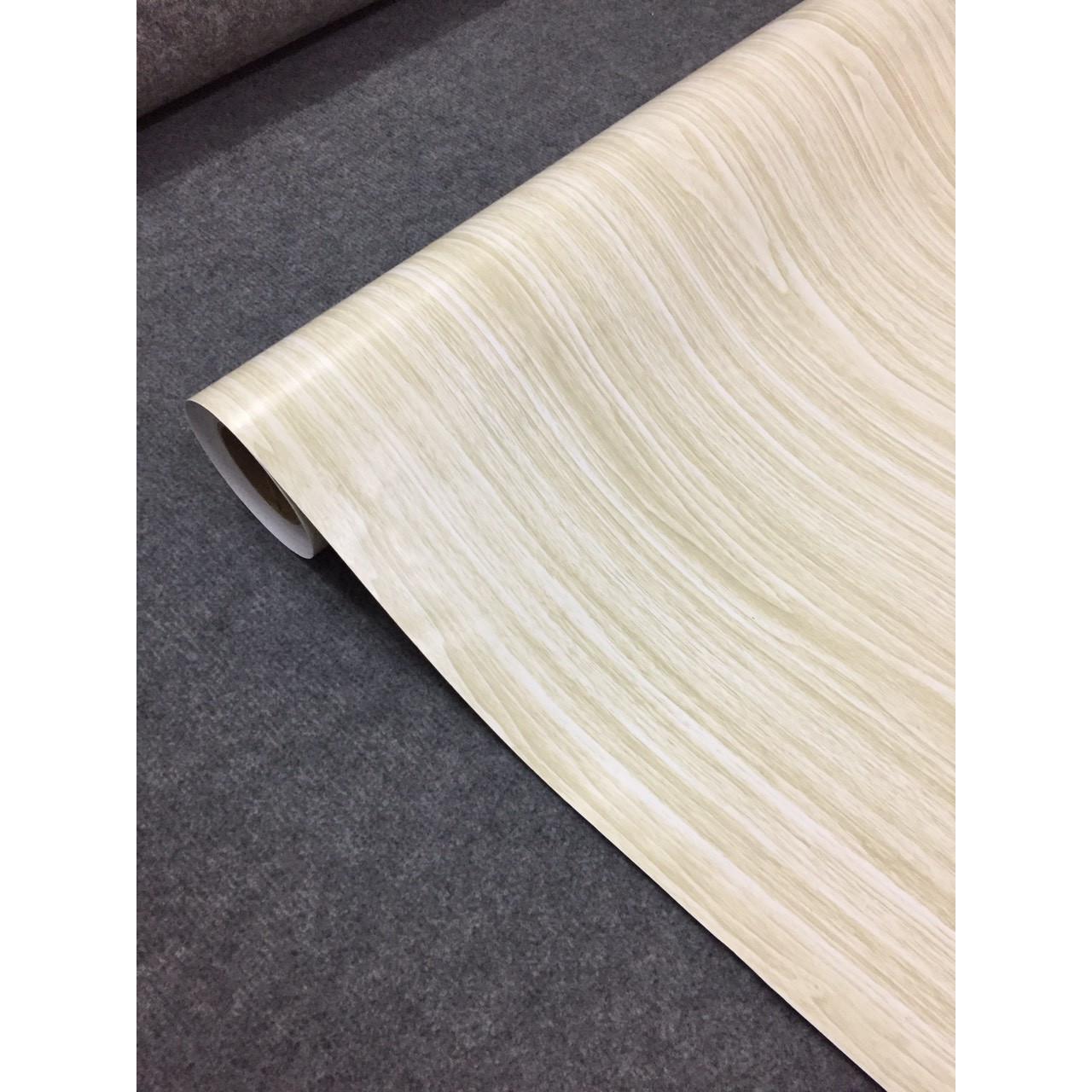 Decal vân gỗ trắng - Giấy dán tường bàn tủ có sẵn keo ( khổ 1,2m - Mẫu G2 )