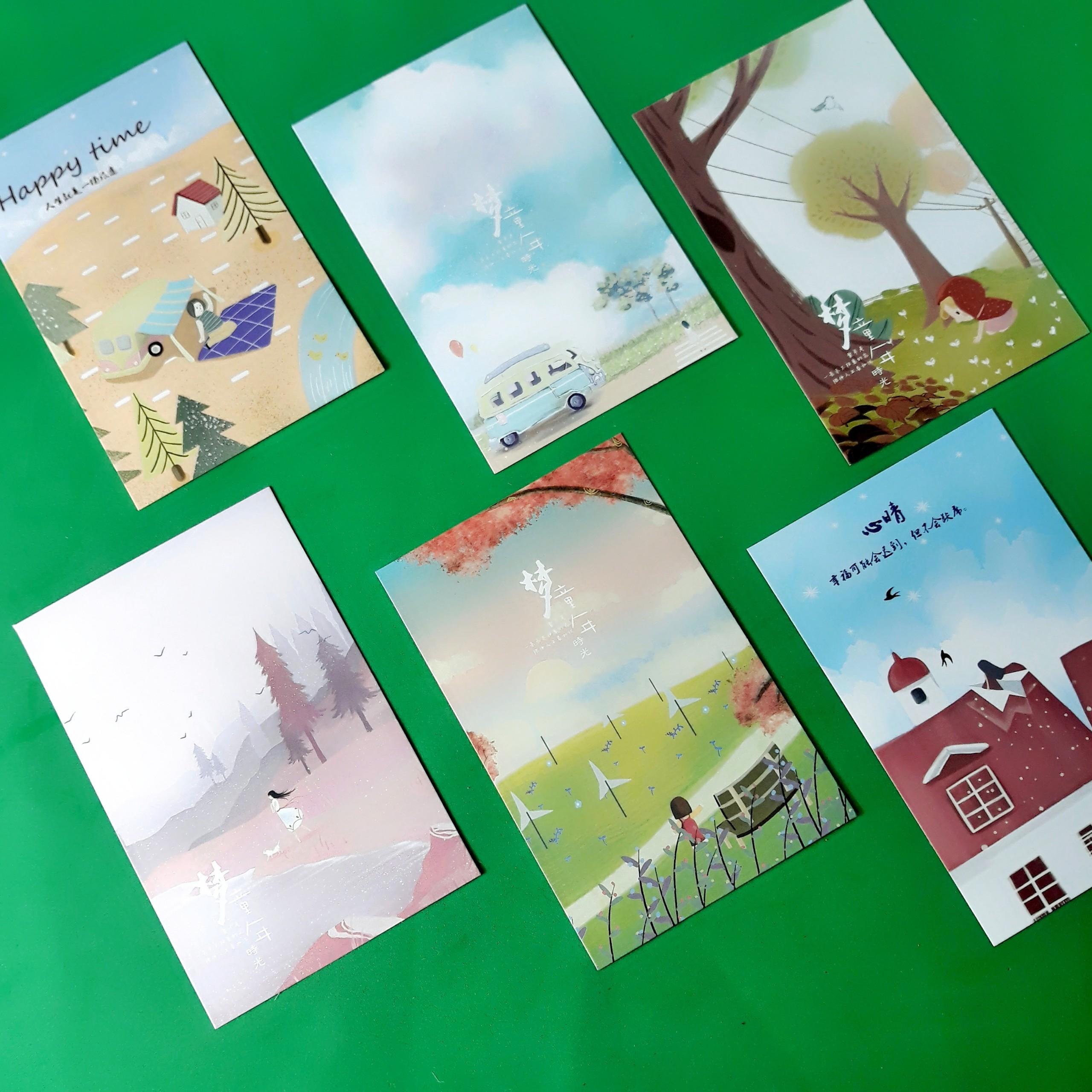 Hộp 36 Post Card Chủ Đề Kỷ Niệm Tuổi Thơ (9.3 x 14.3cm)