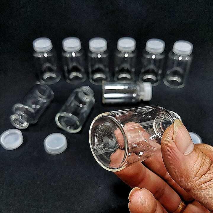 Chai thủy tinh nhỏ 20ml (combo 5 chai) mẫu Trụ Tròn - Nắp nhựa trắng – Lọ đựng tinh dầu, lọ chiết nước hoa làm mẫu thử, tặng kèm – Đựng bột, mật gâu, serum, dược phẩm, hóa chất, kim tuyến