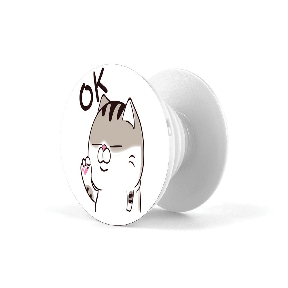 Popsocket - Giá đỡ điện thoại đa năng in hình Mèo con OK - Hàng Chính Hãng