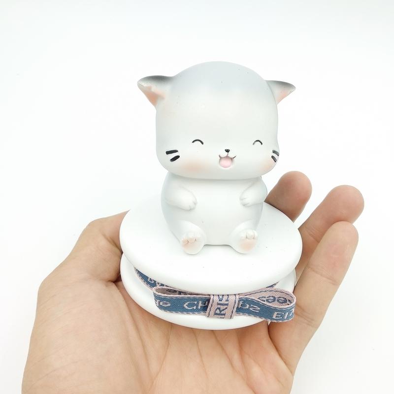 Tượng Hình Mèo JIE MAO - Màu Trắng