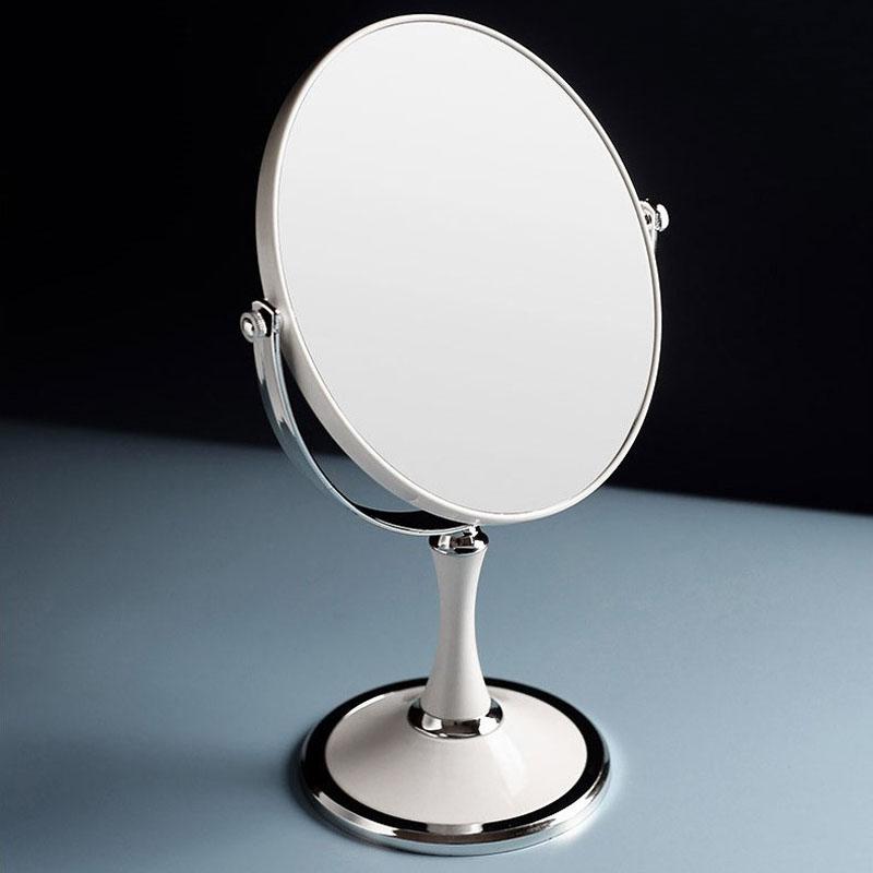Gương trang điểm Tân cổ điển 2 mặt sang trọng cỡ lớn (Màu Trắng)