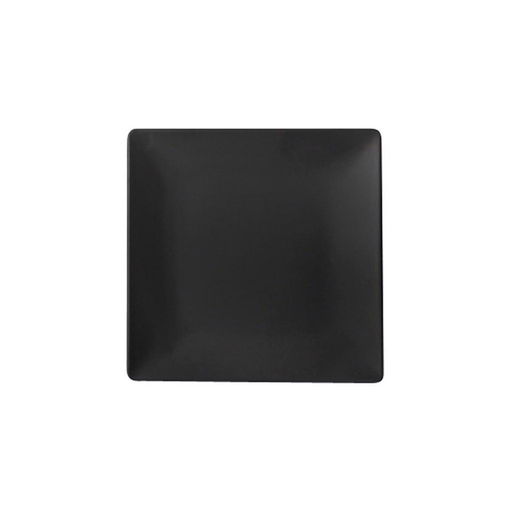 Dĩa vuông melamin KORMEL 180mm màu đen E10506.B