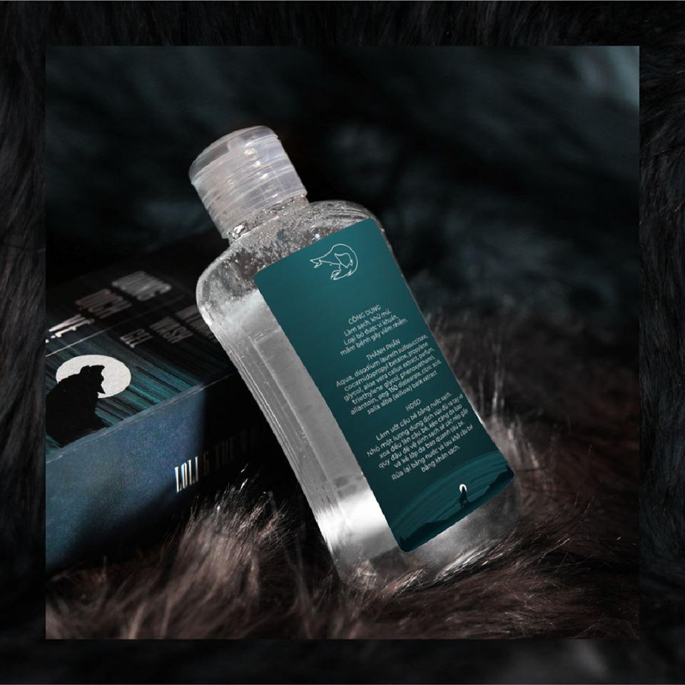 Dung dịch vệ sinh nam dịu nhẹ lành tính thành phần tự nhiên chai nhỏ gọn 80ml - LOLI & THE WOLF