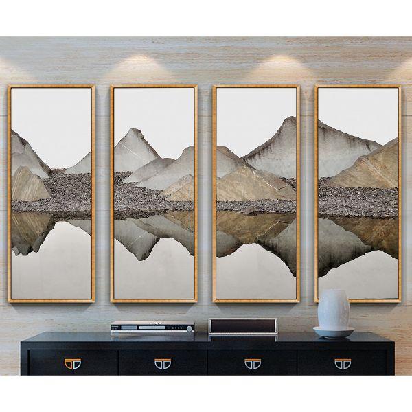Bộ 4 tranh trang trí trừu tượng phong cảnh