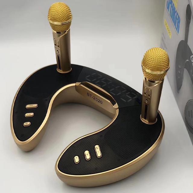 Loa Bluetooth Di Động Không Dây Kèm 2 Micro Hát Karaoke ST2020 Bass Trầm Cực Chuẩn Công Suất 30W