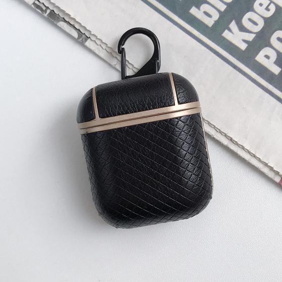 Bao Case Leather Luxury Cho Airpods 1/ Airpods 2 Bảo Vệ Chống Va Đập