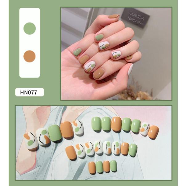 Bộ 24 móng tay giả nail thơi trang như hình  (HN077)