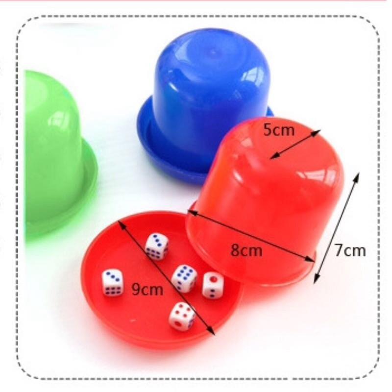 Bộ quà tặng xúc xắc lắc xí ngầu nhựa (màu ngẫu nhiên)