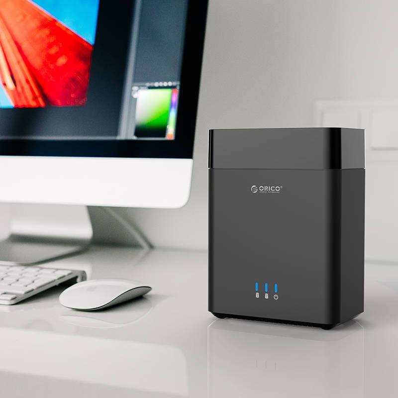 Hộp Đựng Ổ Cứng HDD 2 Khay Orico 3.5'' USB 3.0 DS200U3  - Hàng Chính Hãng