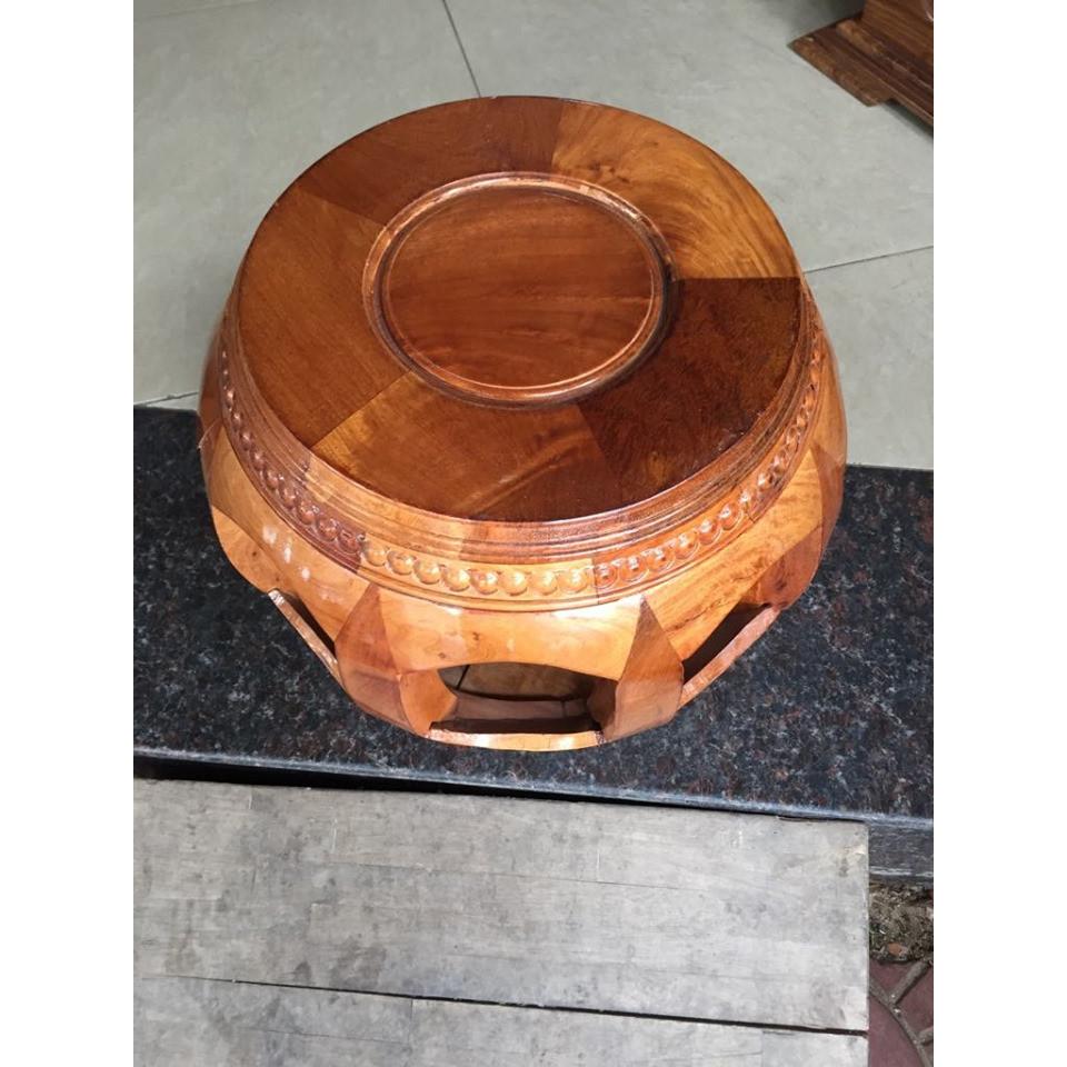 Ghế đôn trống, cao 35cm, mặt đôn 30cm, gỗ hương việt nam