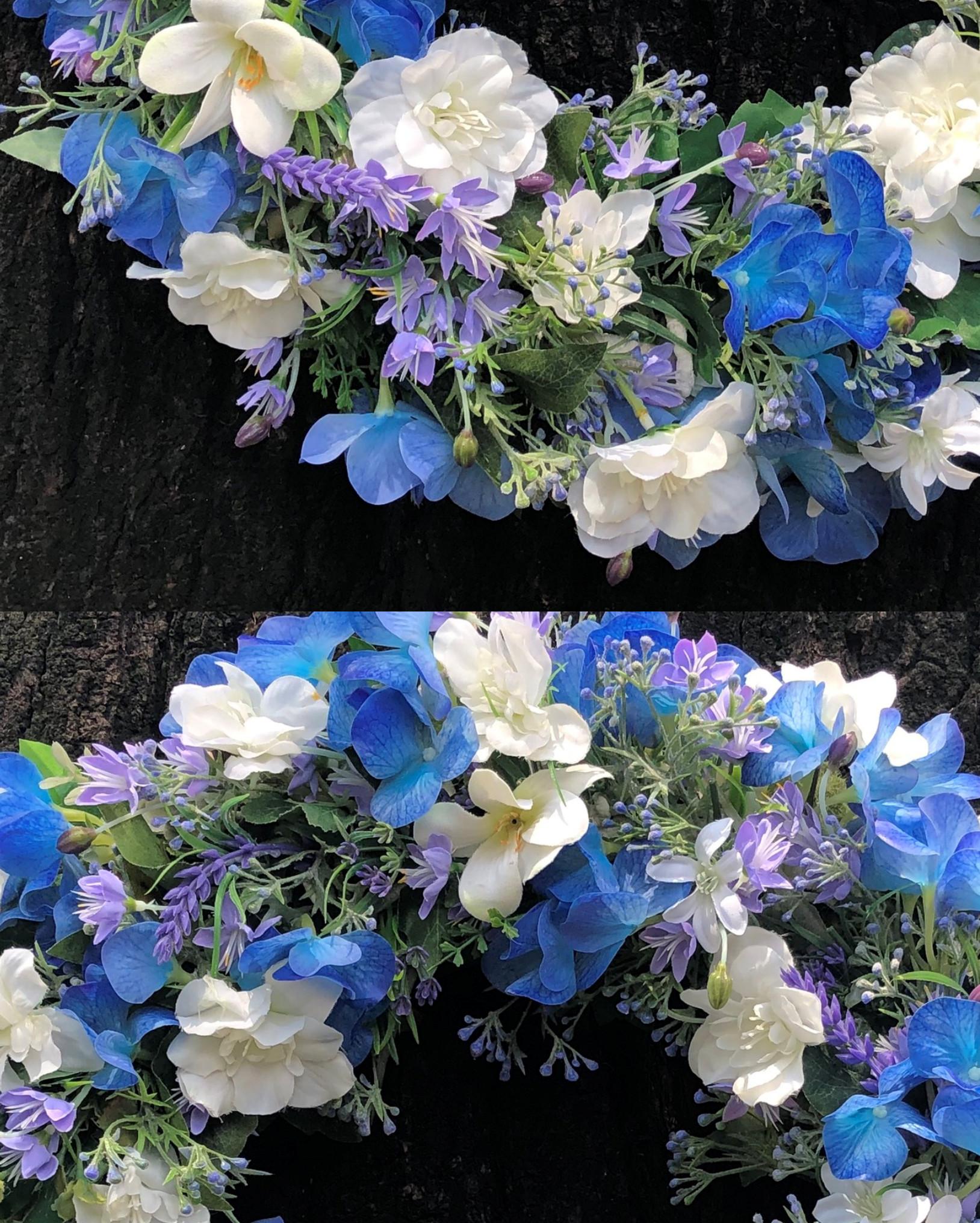 Vòng Hoa Vải Handmade V16028