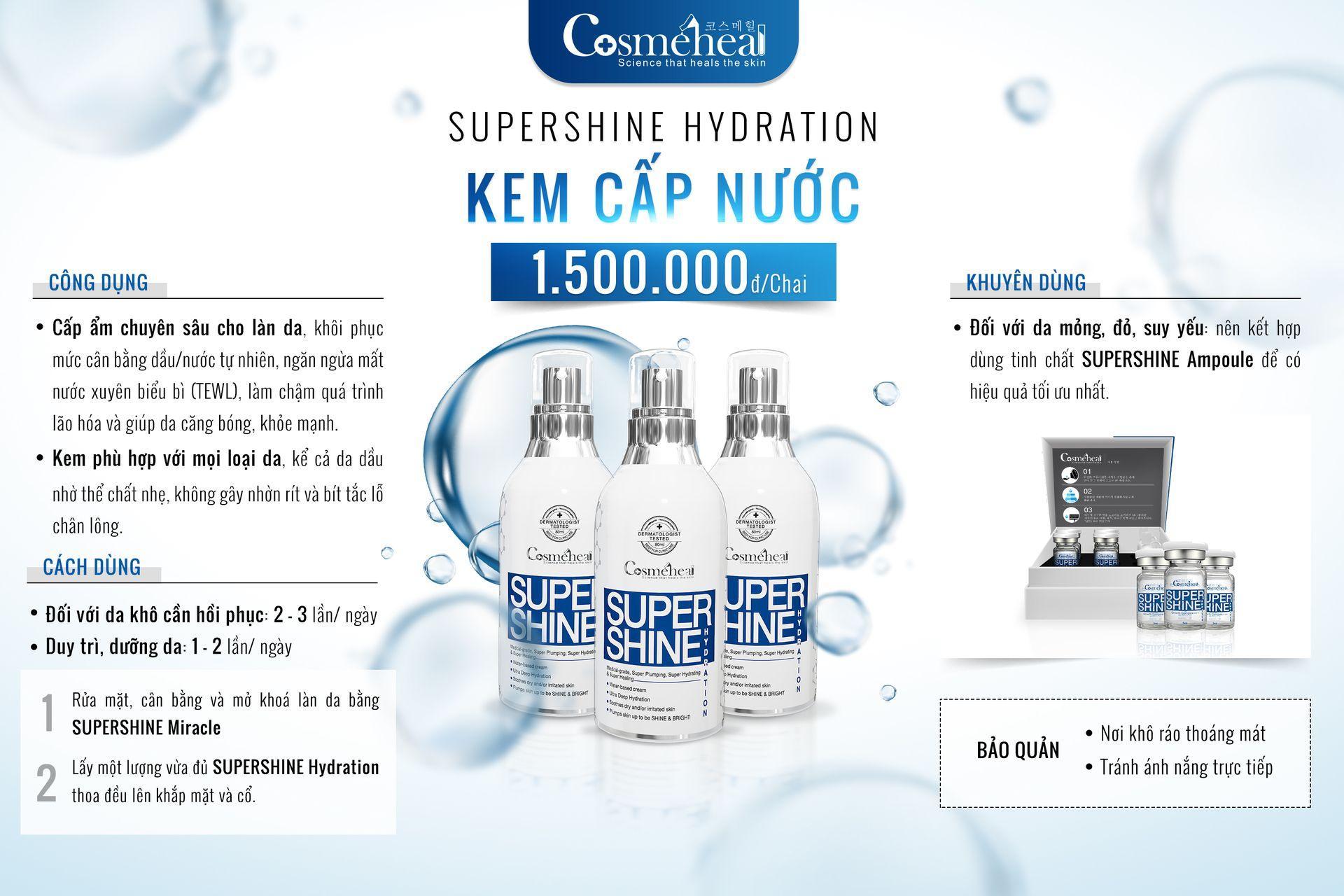 Combo Cosmeheal dành cho da khô gồm SRM không bọt và Kem cấp ẩm