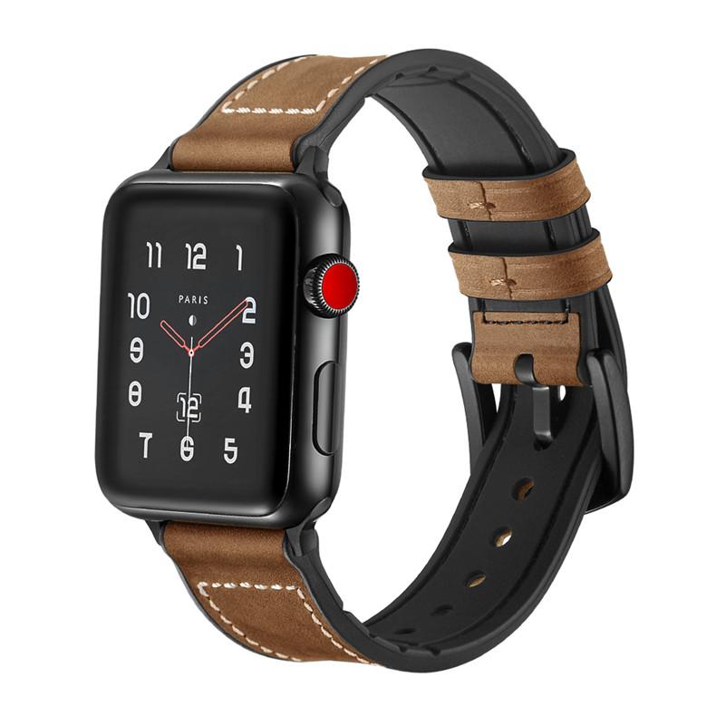 Dây Da dành cho Apple Watch Hybrid Chống Nước Size 38/40mm