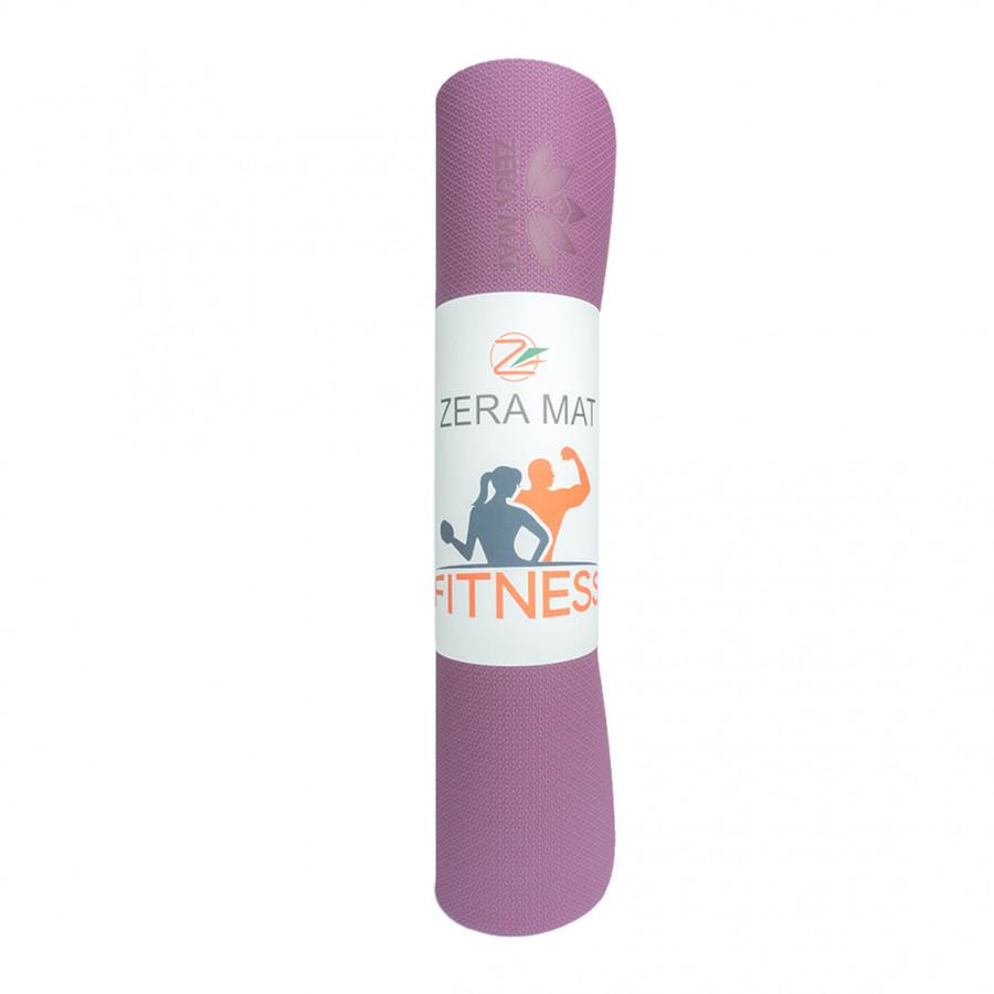 Thảm tập yoga Fitness Zera TPE 1 lớp 8mm - Tím