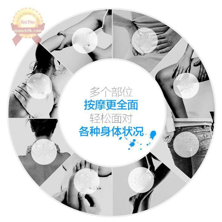 Cây massage toàn thân 5 bánh lăn matxa đầu chân cổ lưng bụng mặt vai gáy đa năng Nhật Bản