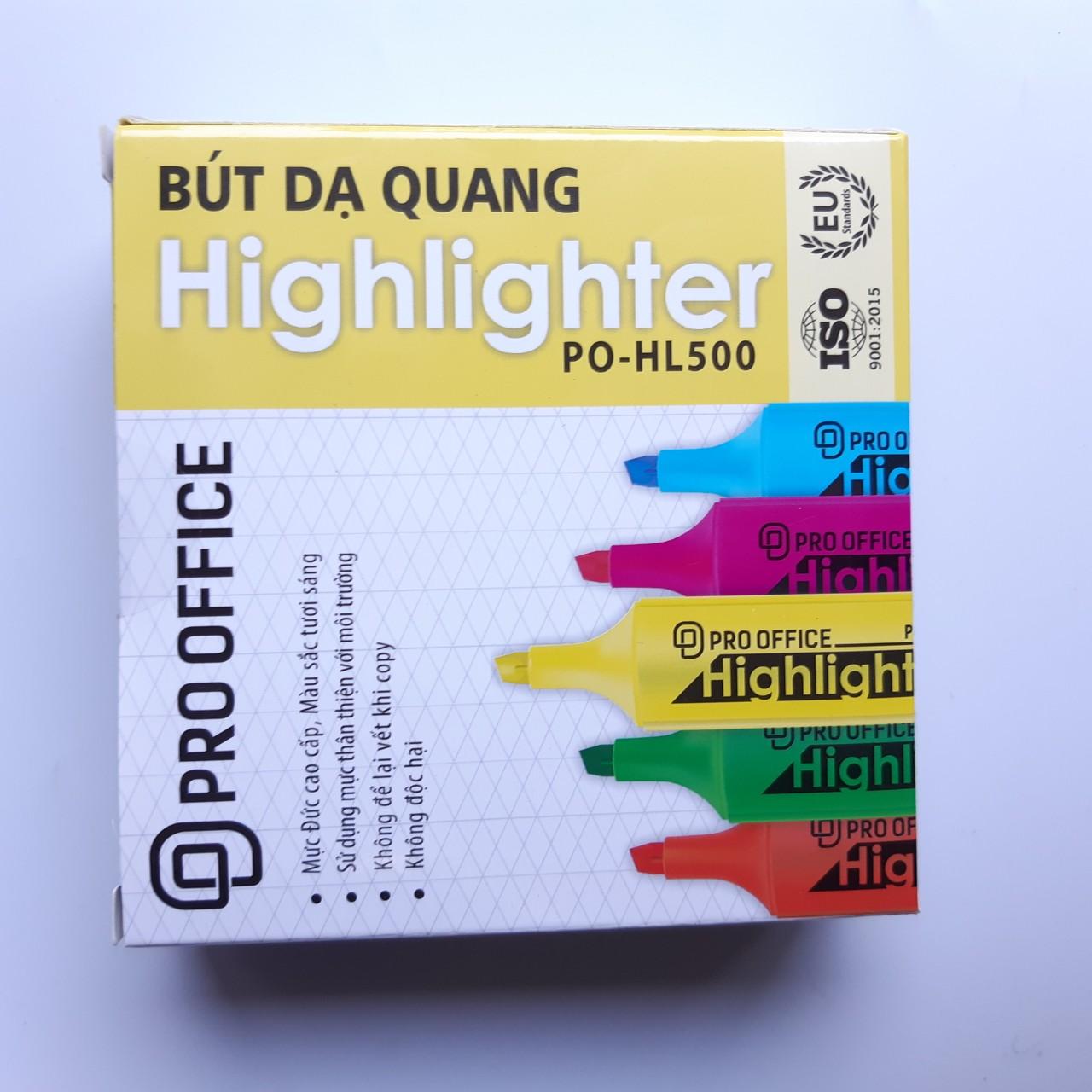 Combo 5 cây Bút dạ quang highligh PRO-OFFICE HL500