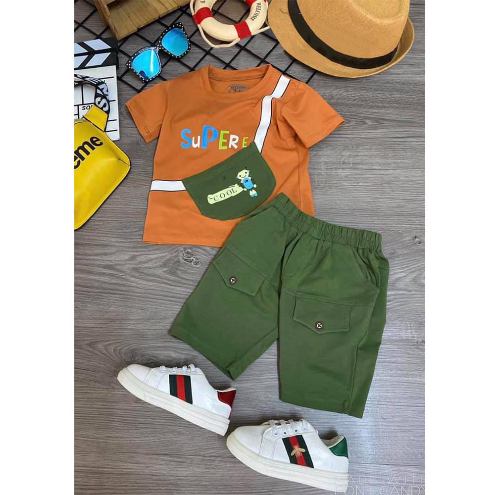 Combo 3 Bộ quần áo trẻ em | quần áo bé trai | mẫu Supere cool cao cấp | cho bé từ 8kg đến 22kg | vải cotton 100% mềm mại co giản 4 chiều | Giao màu ngẫu nhiên