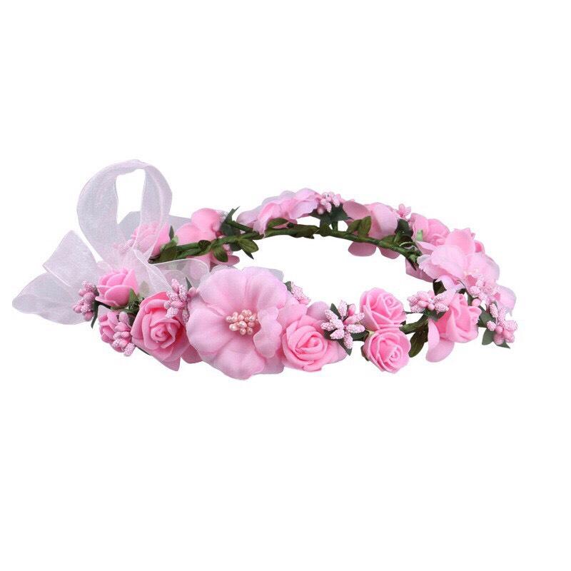 Băng đô đội đầu hình bông hoa cho bạn gái chụp kỷ yếu , trang điểm cô dâu Beety-919